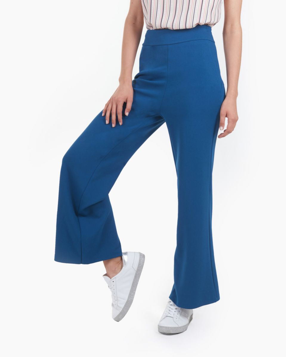 Pantalone con zip invisibile laterale