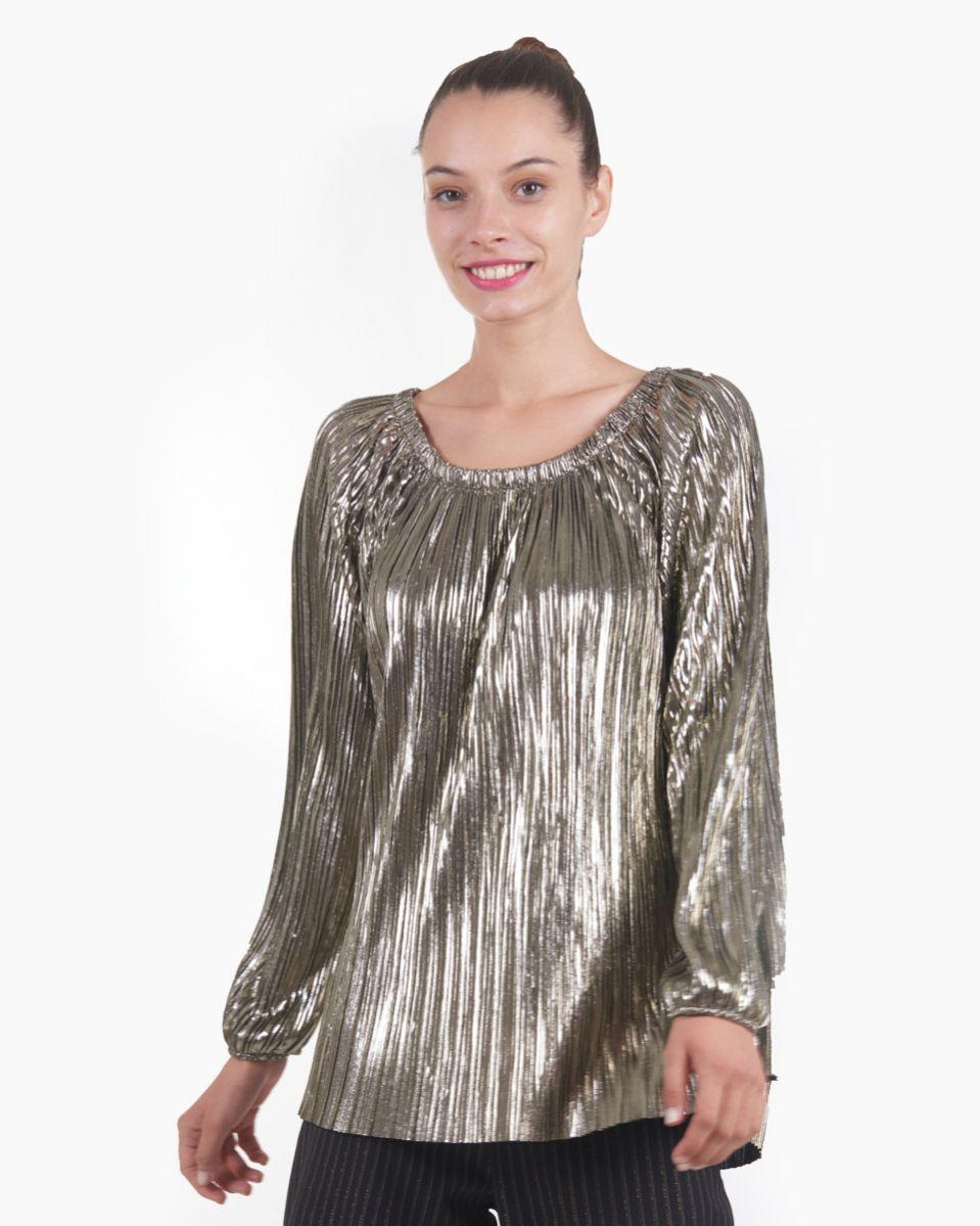 Camicia plisse spalmato