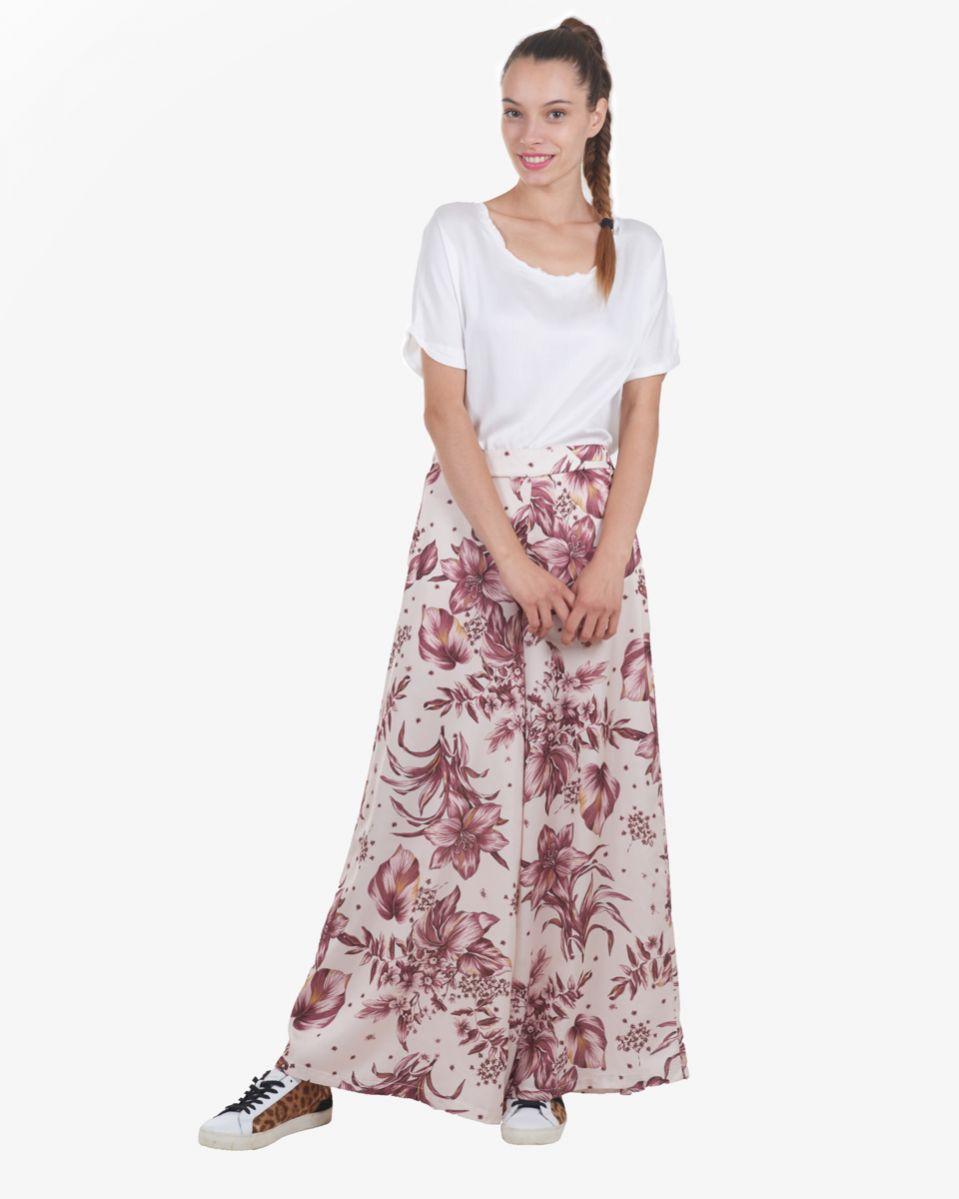 Pantalone fantasia fiori