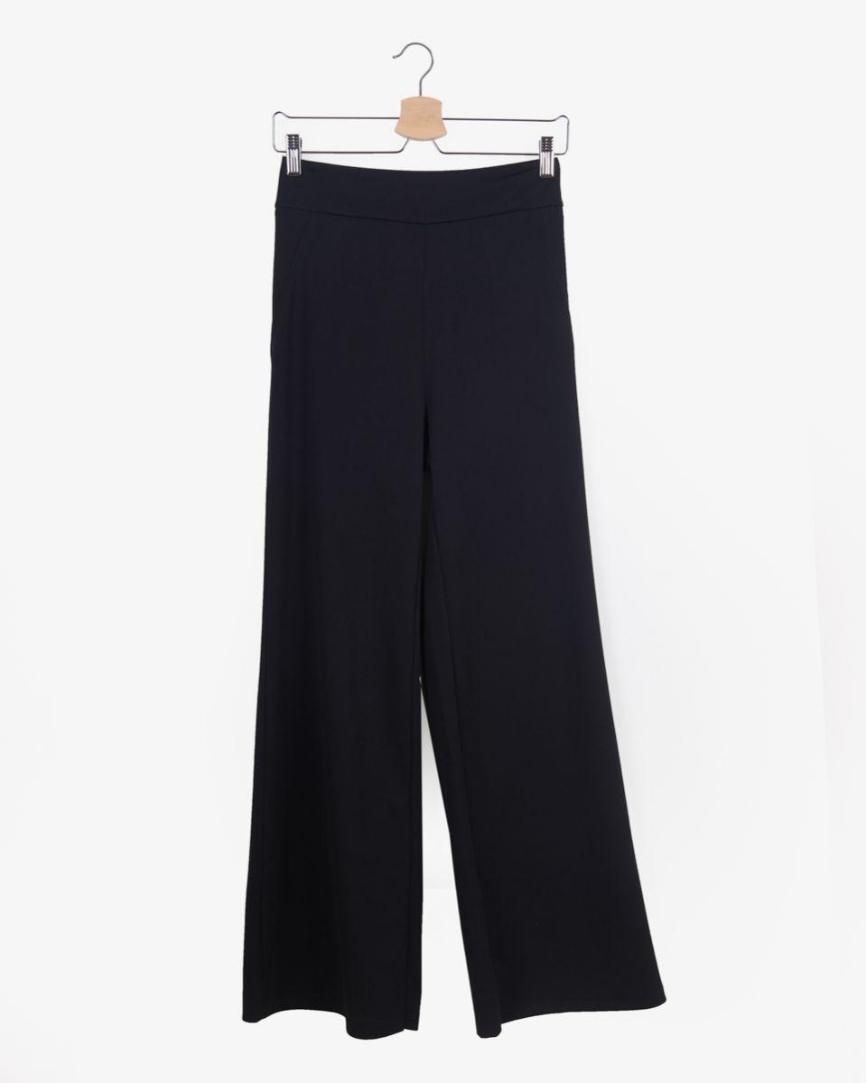 Pantalone con zip invisibile laterale