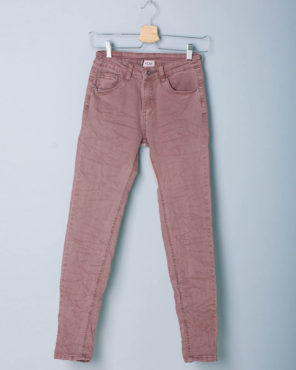 Pantalone jeans pieghe