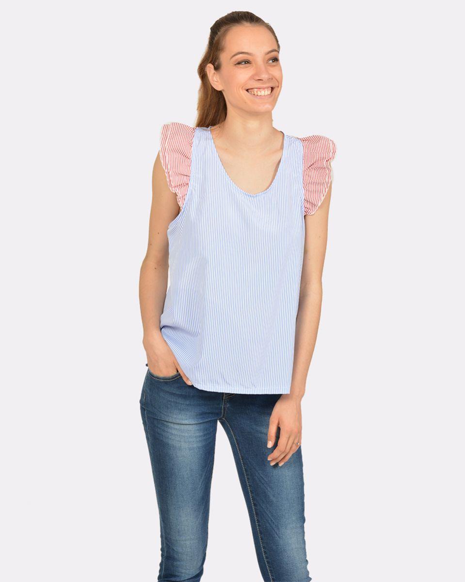 Camicia popline righe