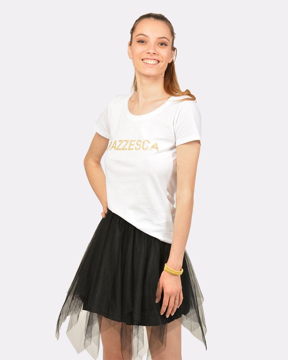 T-shirt scritto serigrafia PAZZESCA