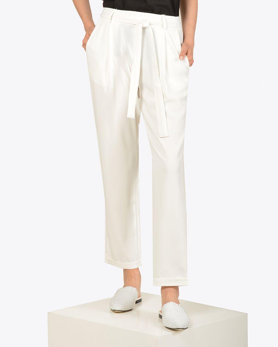 Pantalone sigaretta con cintura