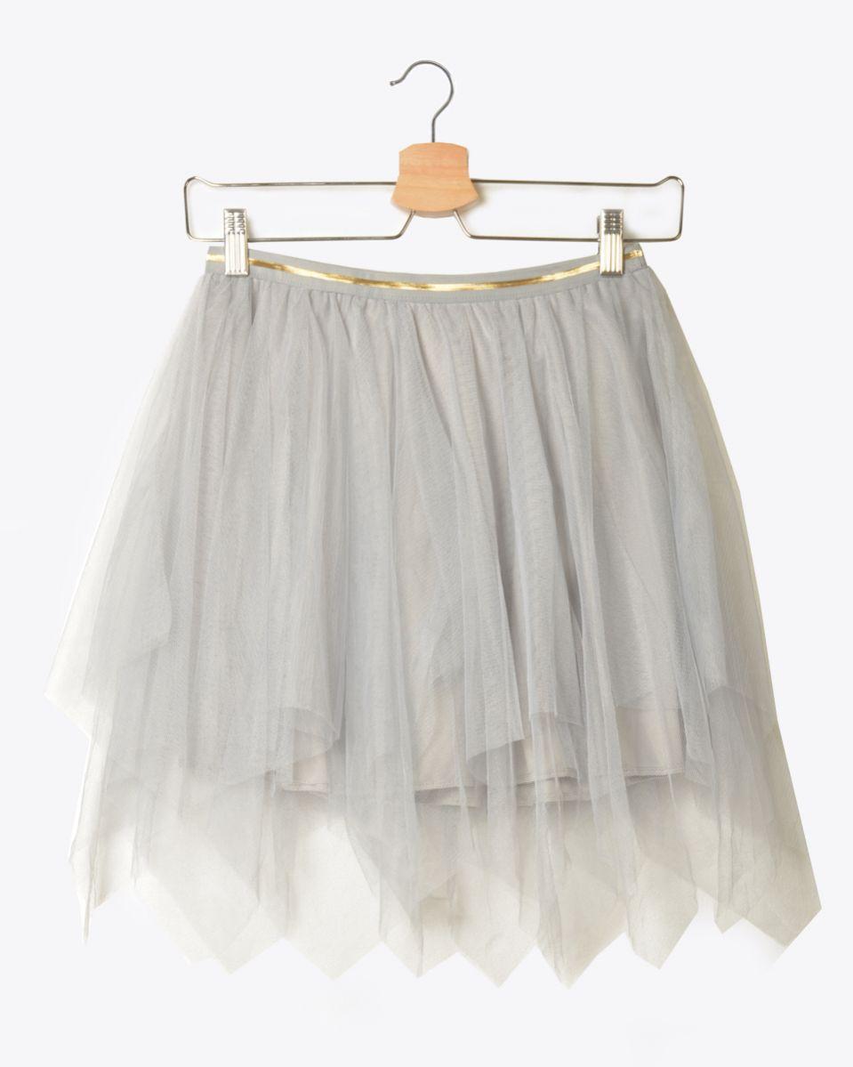 Minigonna tulle con short