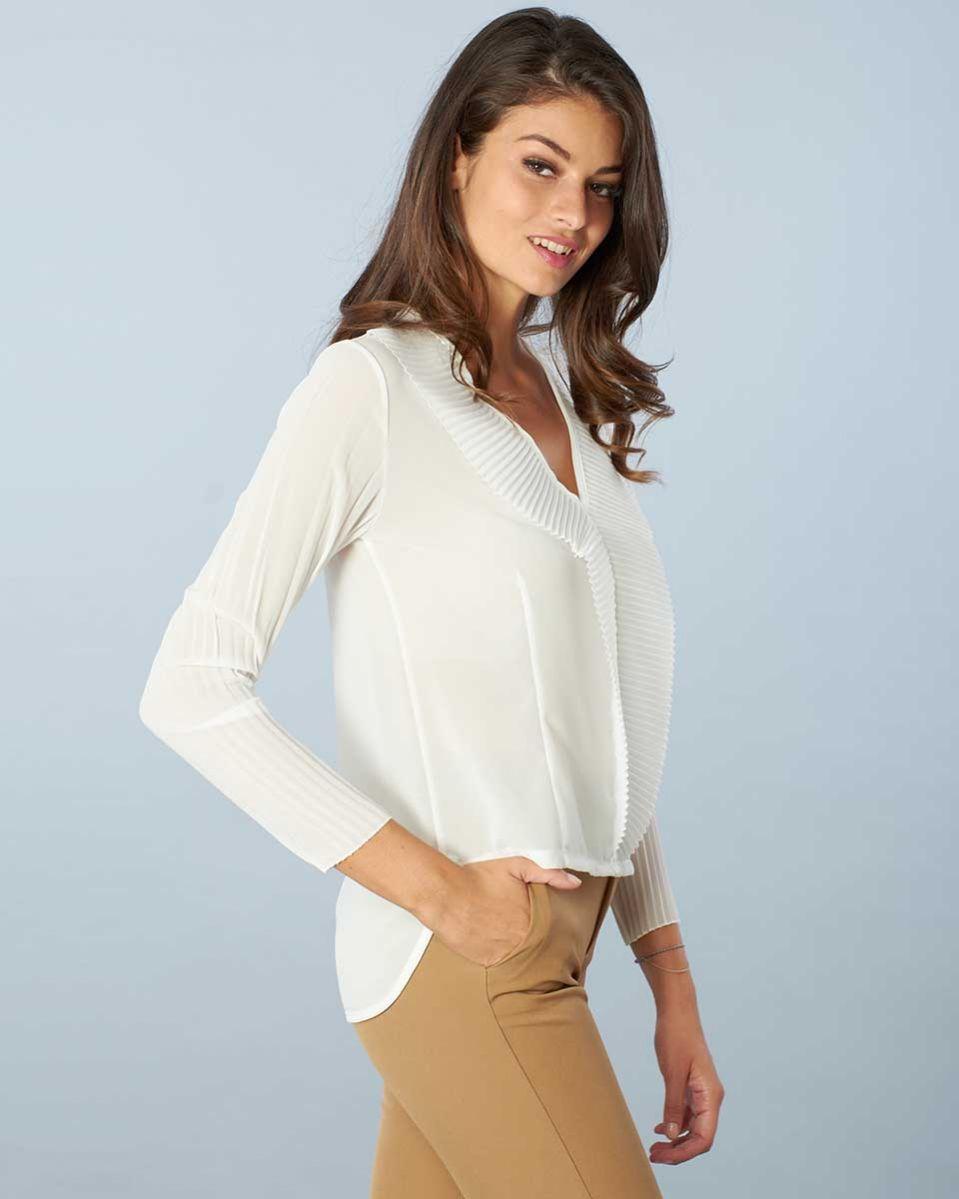 Blusa plisse