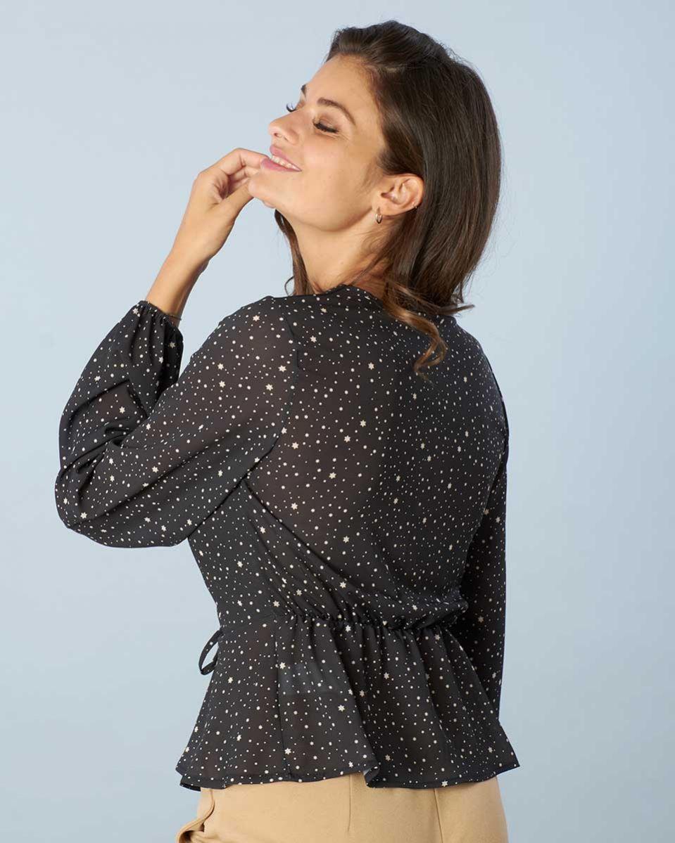Camicia georgette stelline