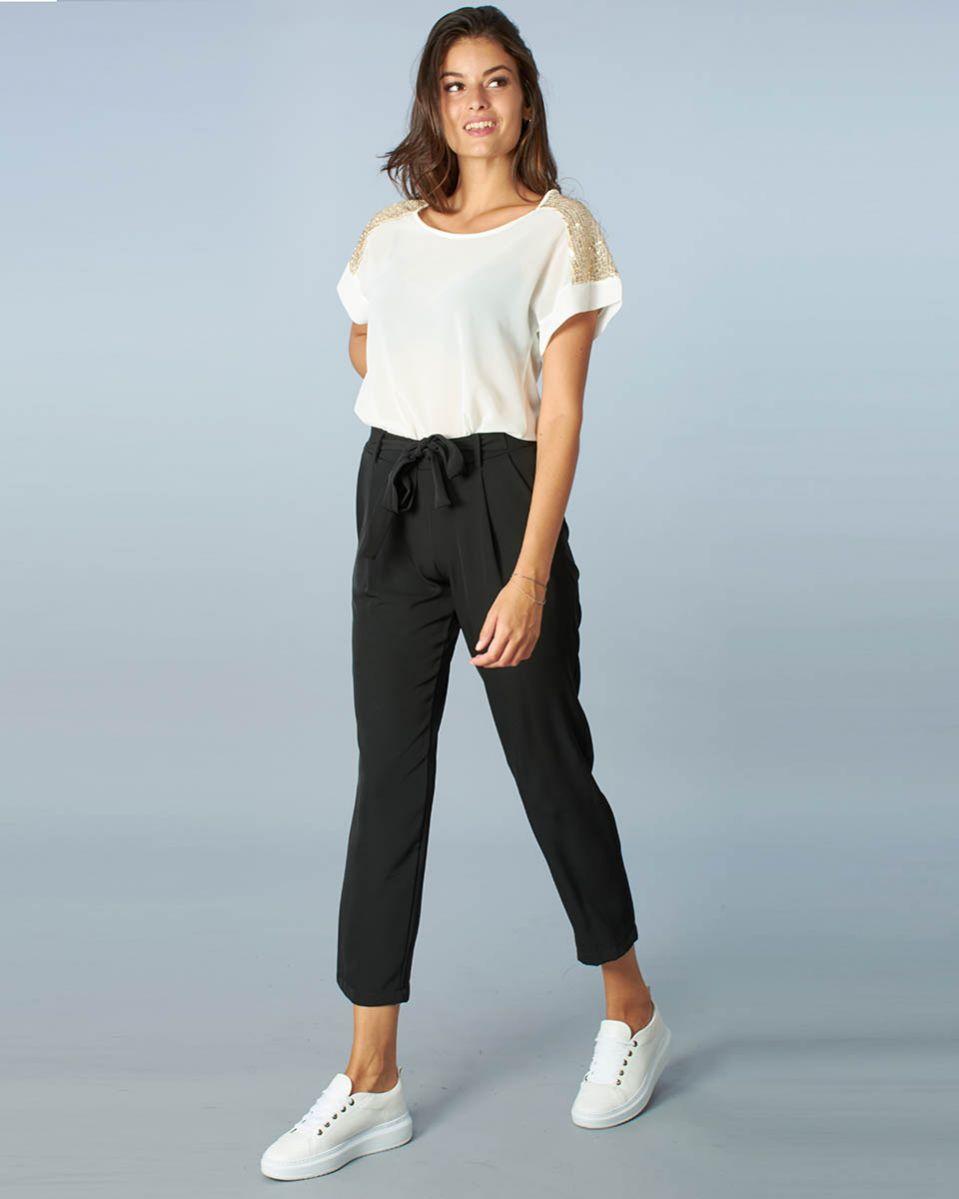 Pantalone con fiocco