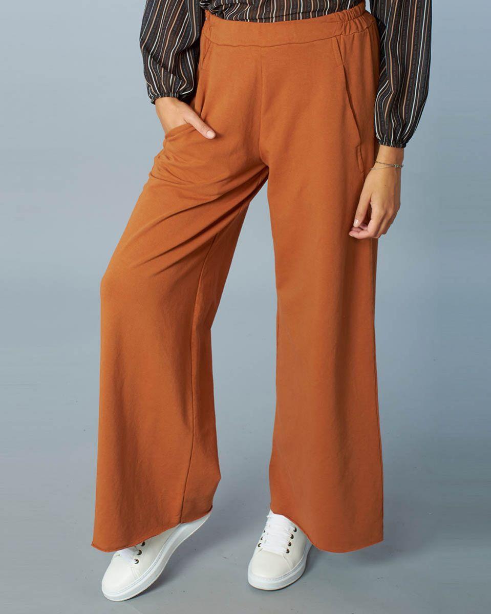 Maxi pantalone felpa