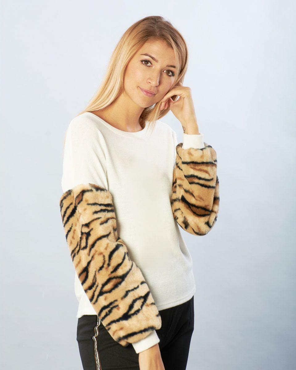 Maglia maniche tigre